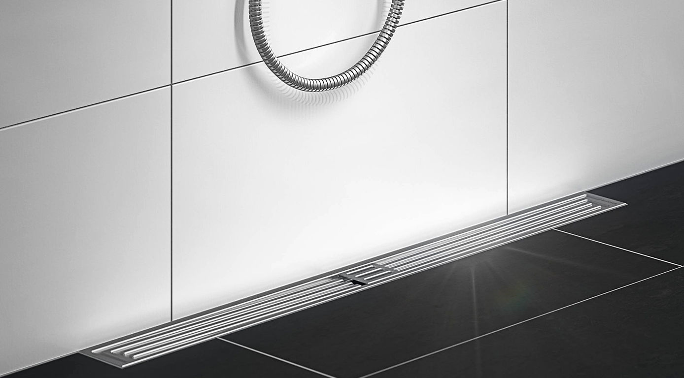 BLÜCHER® Art Deco shower channel